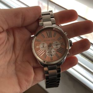 Michael Kord silver/rose gold woman's watch